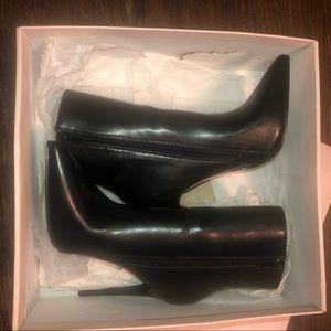 JustFab Shoes - Just Fab black stiletto ankle boots NIB